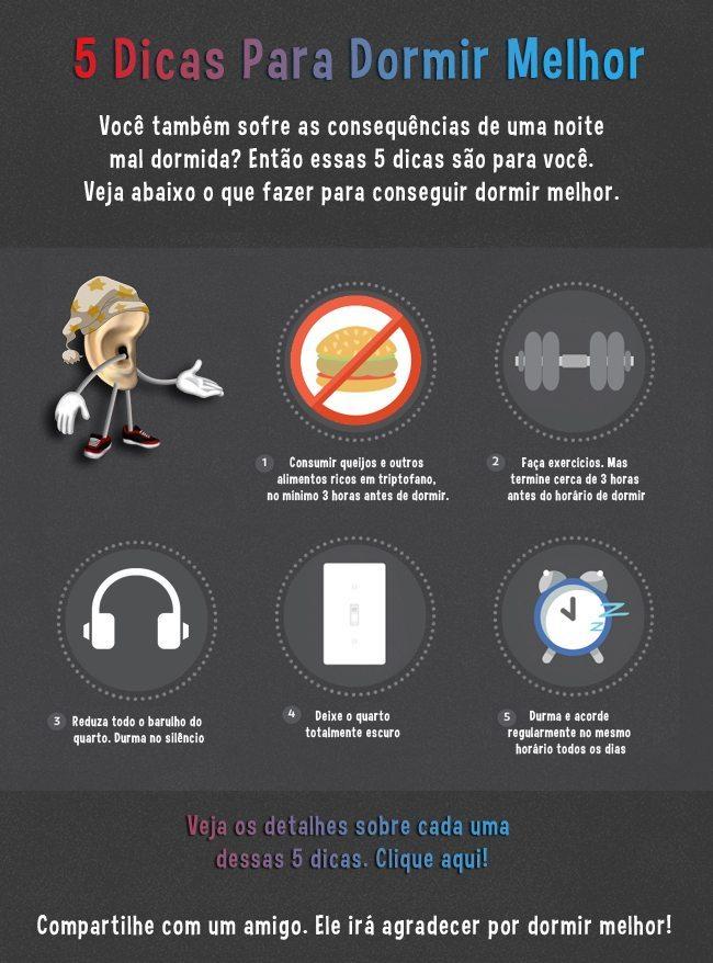 5 dicas para dormir melhor