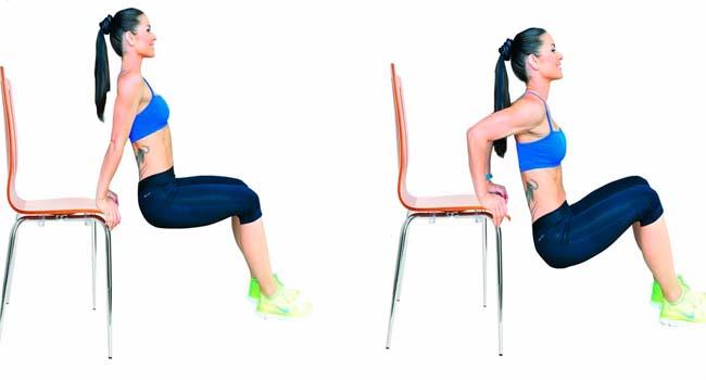 triceps na cadeira