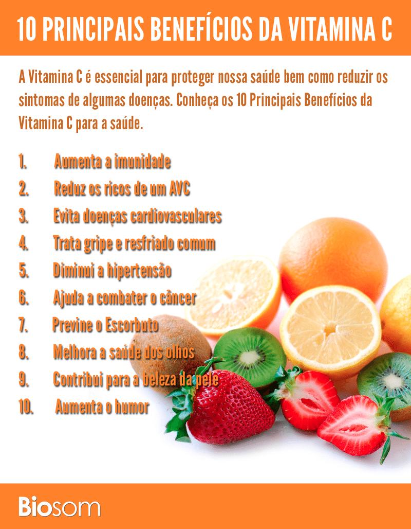 10 benefícios da vitamina c para a saúde
