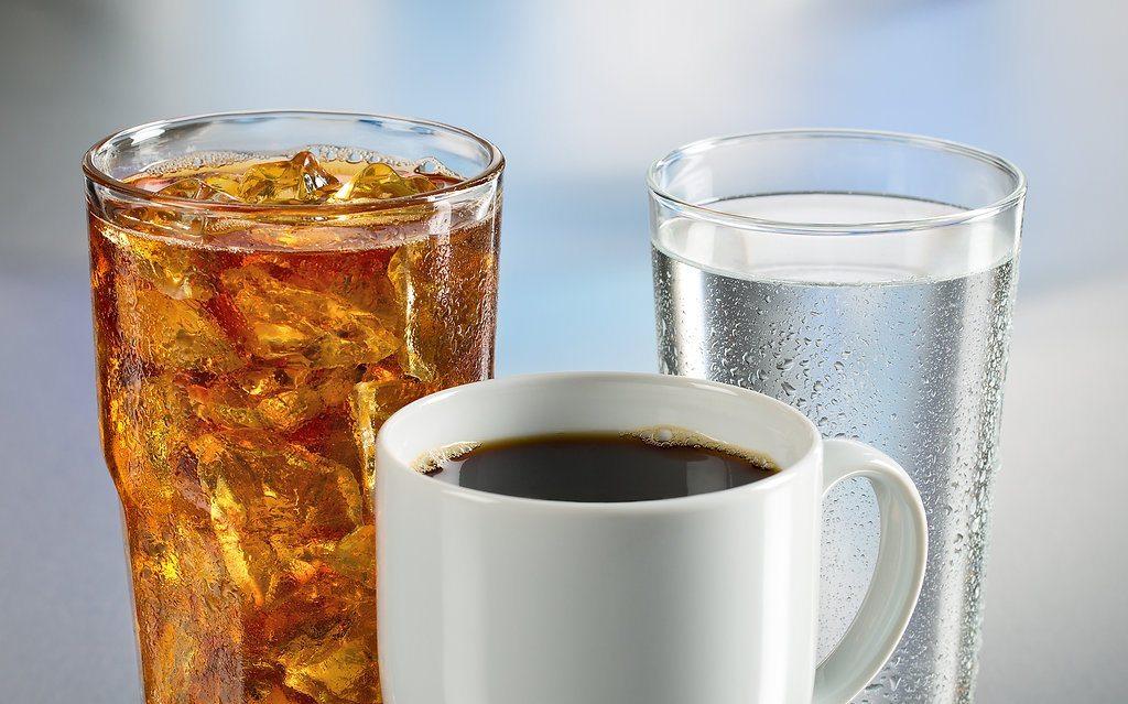café chá água