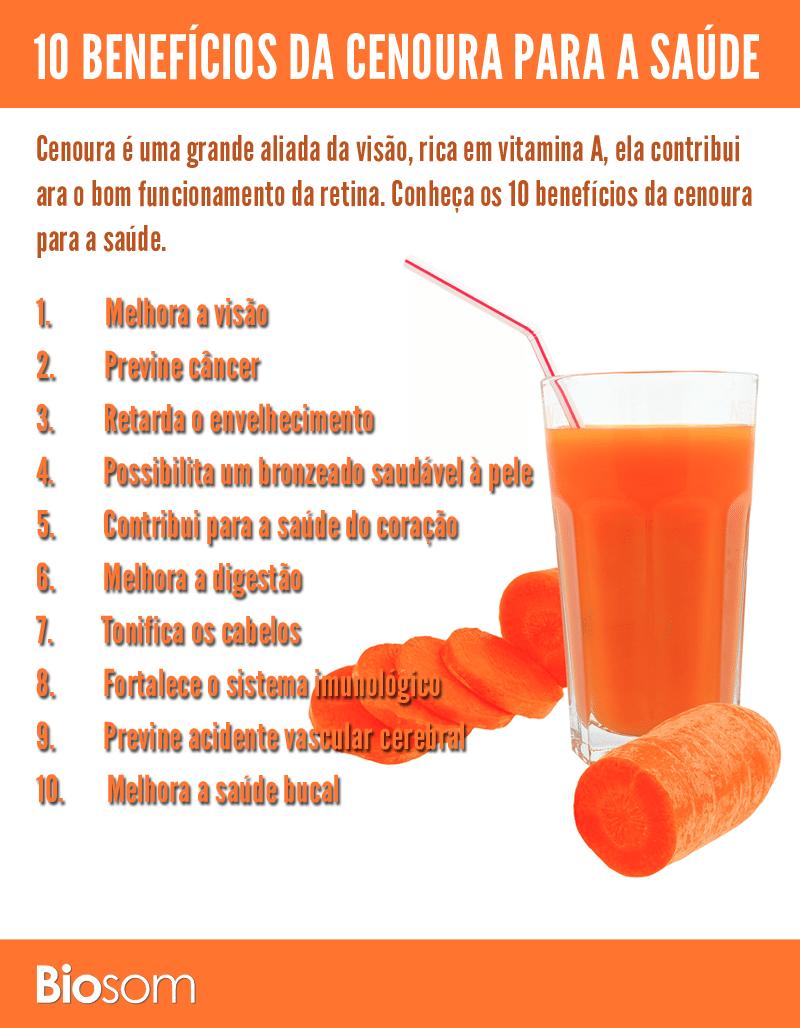 10 benefícios da cenoura para a saúde