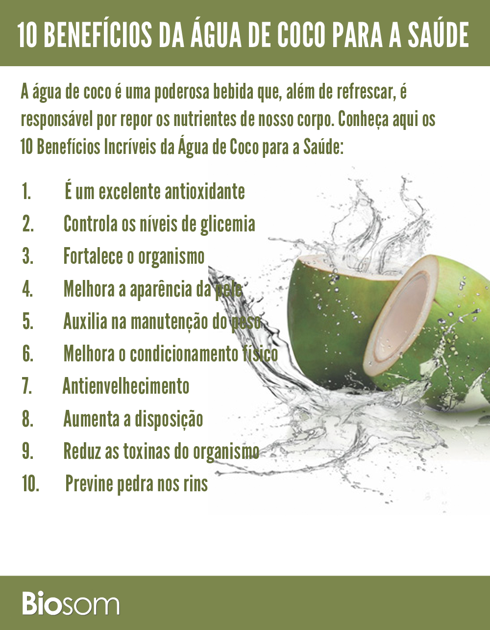 10 Benefícios Incríveis da Água de Coco para a Saúde