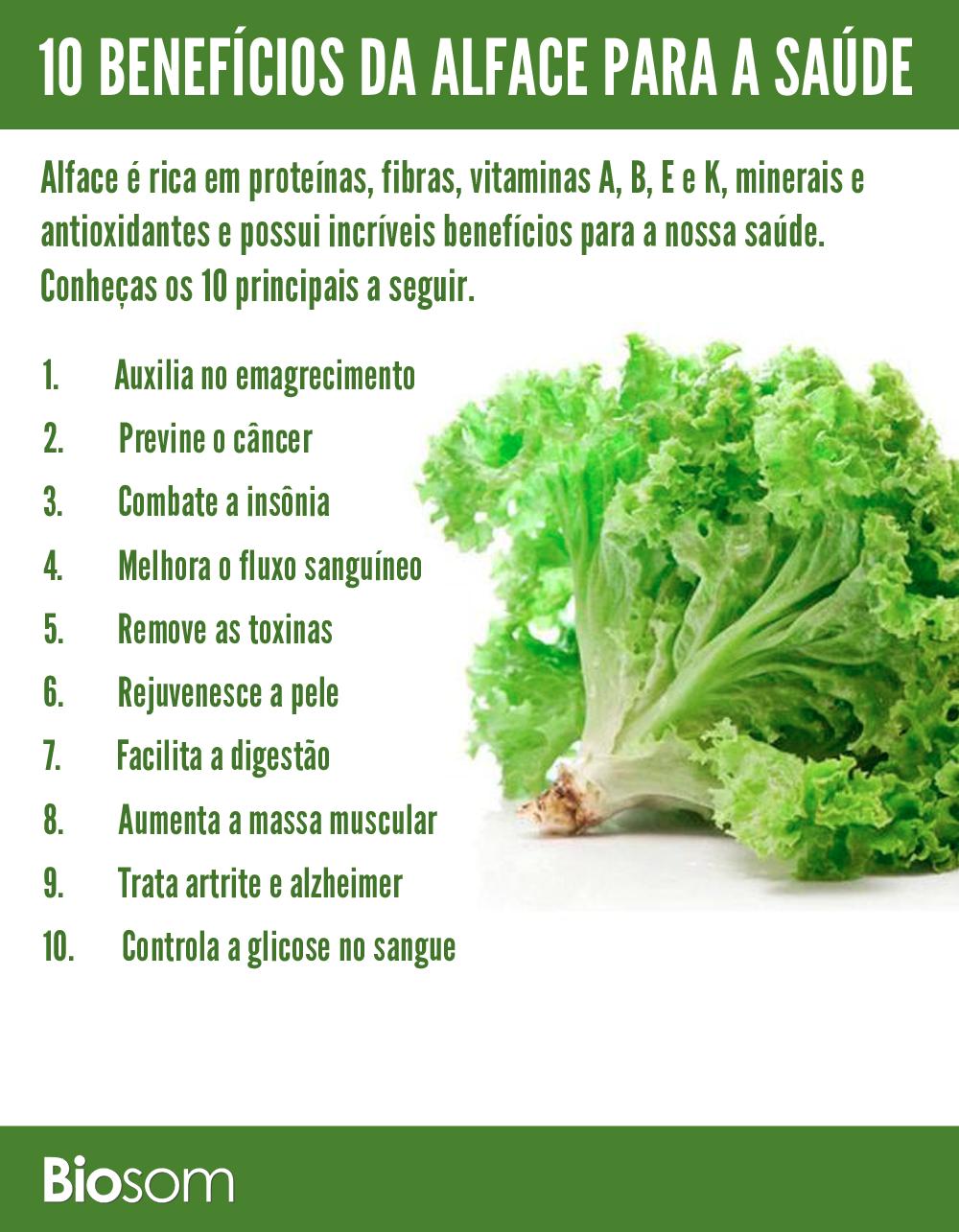 10 Benefícios Incríveis da Alface para a Saúde - Biosom