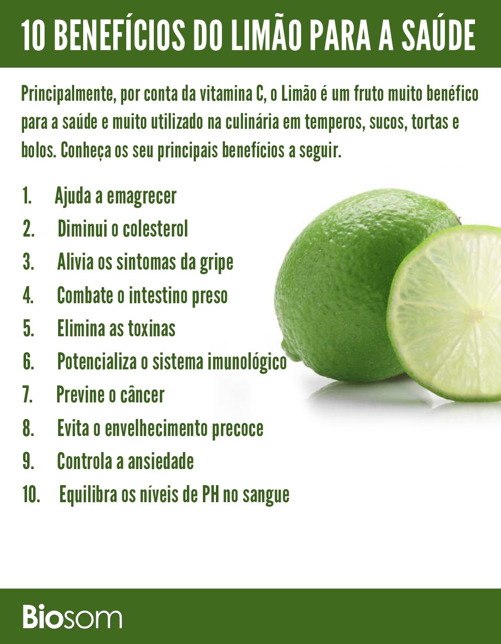 benefícios do limão para a saúde