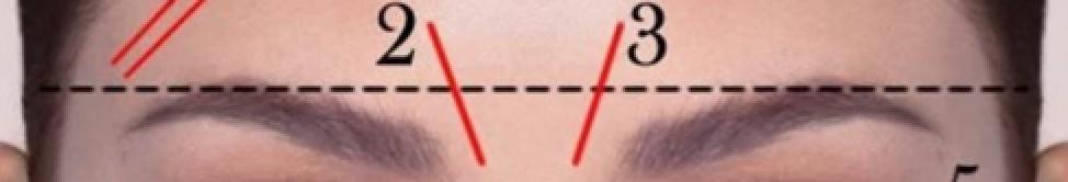linha vertical direita entre as sobrancelhas