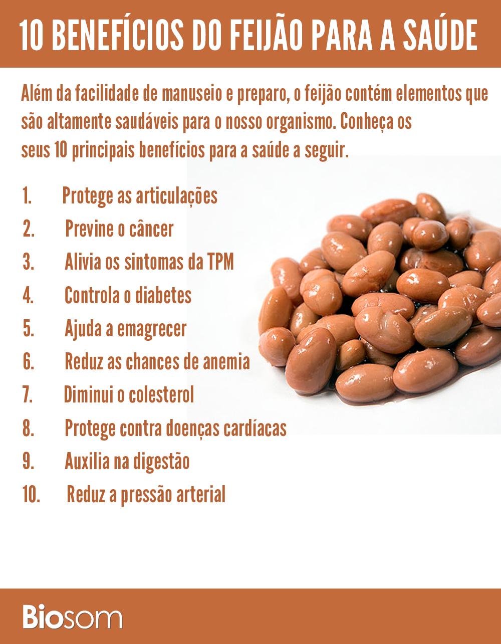 10 benefícios de feijão para saúde