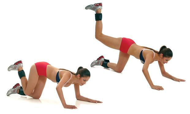 Celulite: 10 Exercícios e Dicas Caseiras para Eliminar a Celulite - elevacao-de-pernas-para-tras-para-gluteos