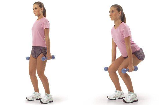 Celulite: 10 Exercícios e Dicas Caseiras para Eliminar a Celulite - agachamento
