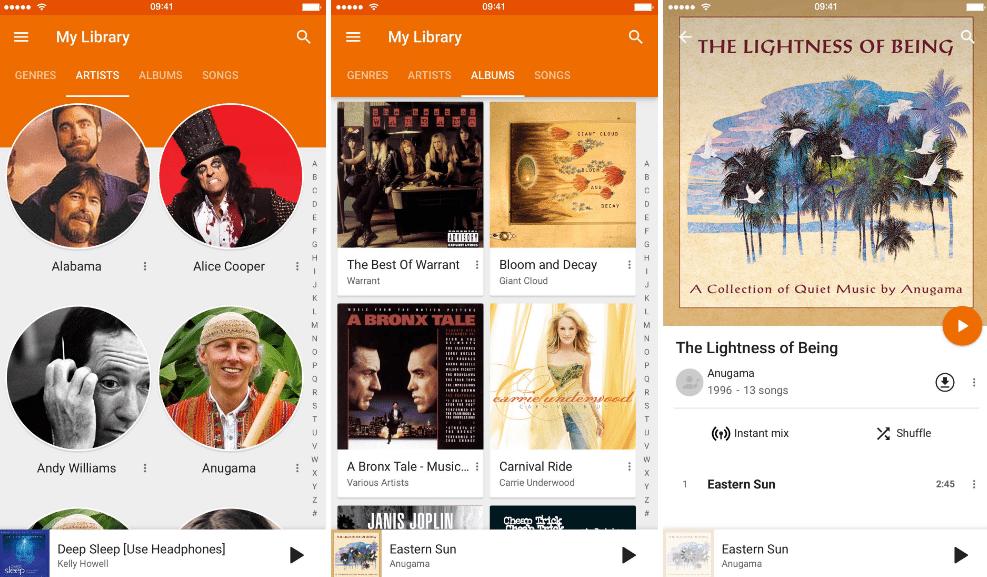 10 Melhores Apps de Streaming de Música (2016) google-play-music