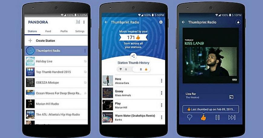 10 Melhores Apps de Streaming de Música (2016) pandora-app