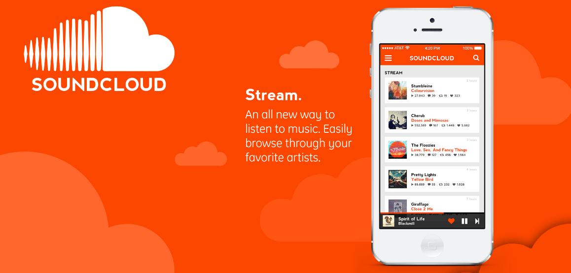 10 Melhores Apps de Streaming de Música (2016) soundcloud-app
