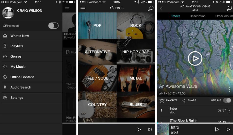 10 Melhores Apps de Streaming de Música (2016) - Tidal