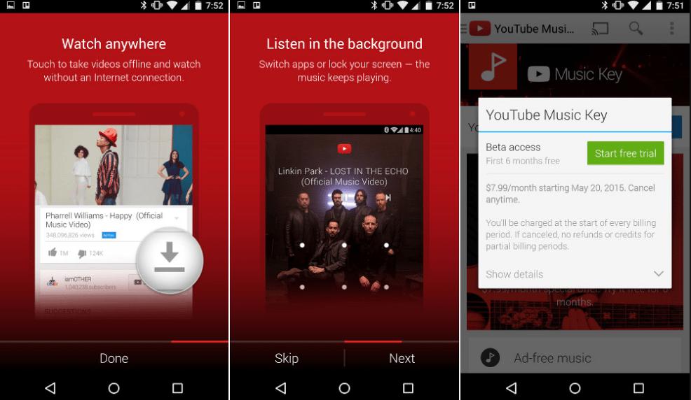 10 Melhores Apps de Streaming de Música (2016) youtube-red