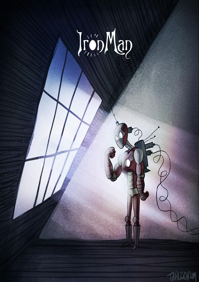 Tim Burton, Andrew Tarusov - Heróis de cartoon
