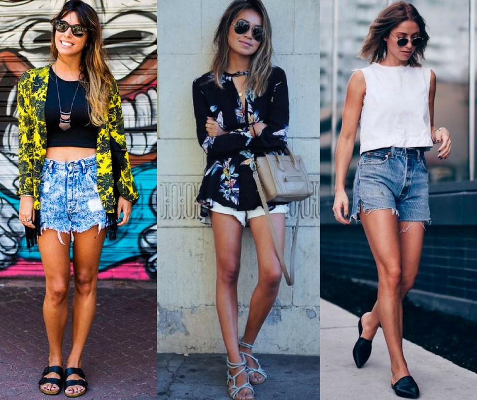 roupa para churrasco casual feminina com shorts jeans