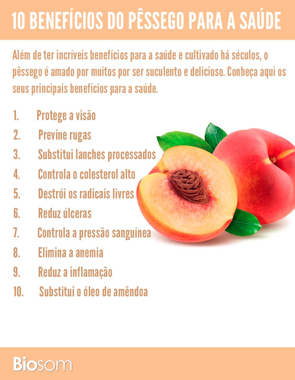 benefícios do pêssego para a saúde