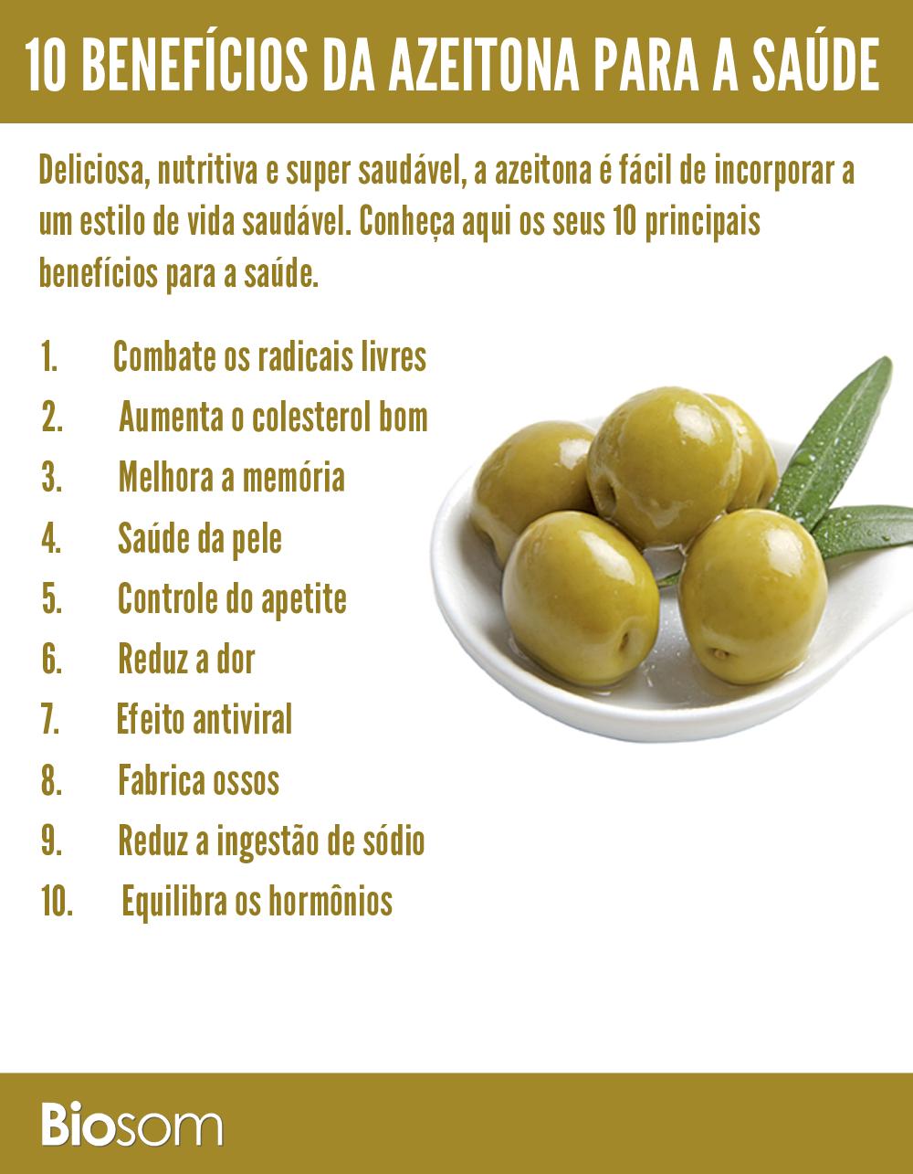 benefícios de azeitona para a saúde