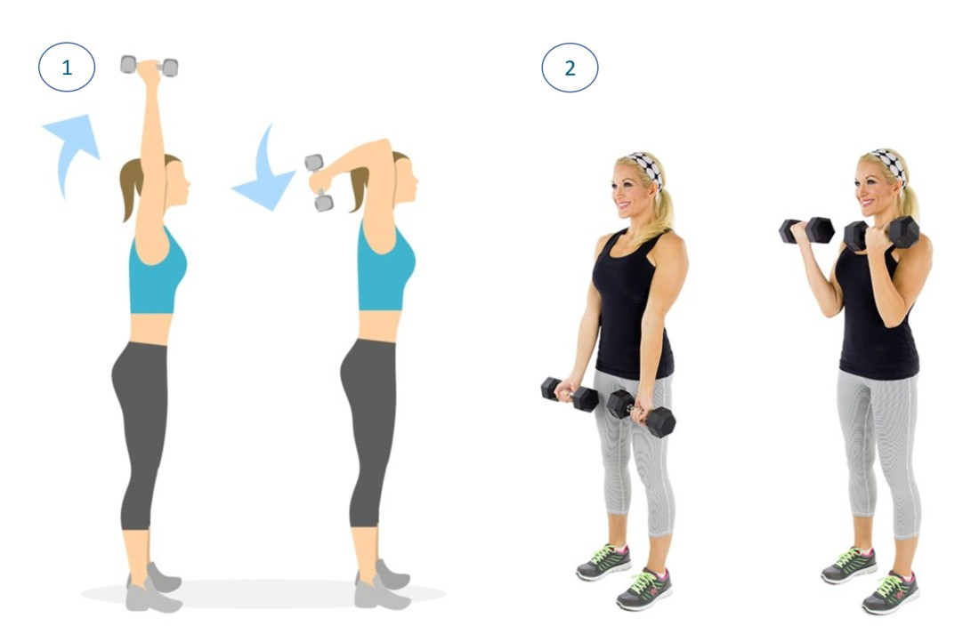 5 Exercícios para Queimar a Gordura do Braço - Uso de Pesos