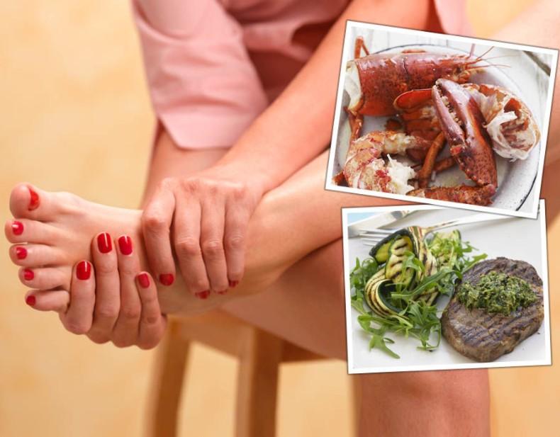 10 alimentos que provocam a gota