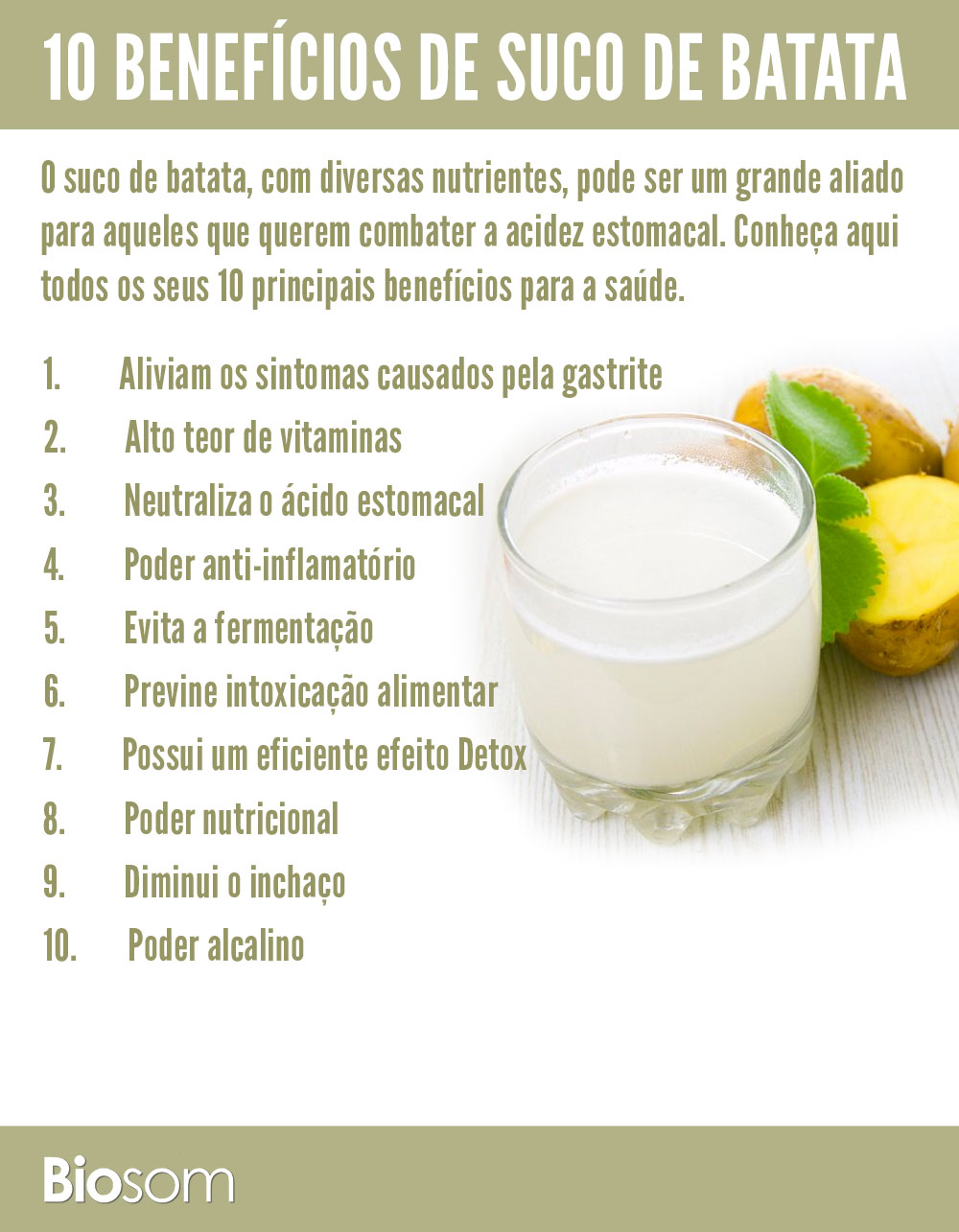 10 benefícios do suco de batata para a saúde
