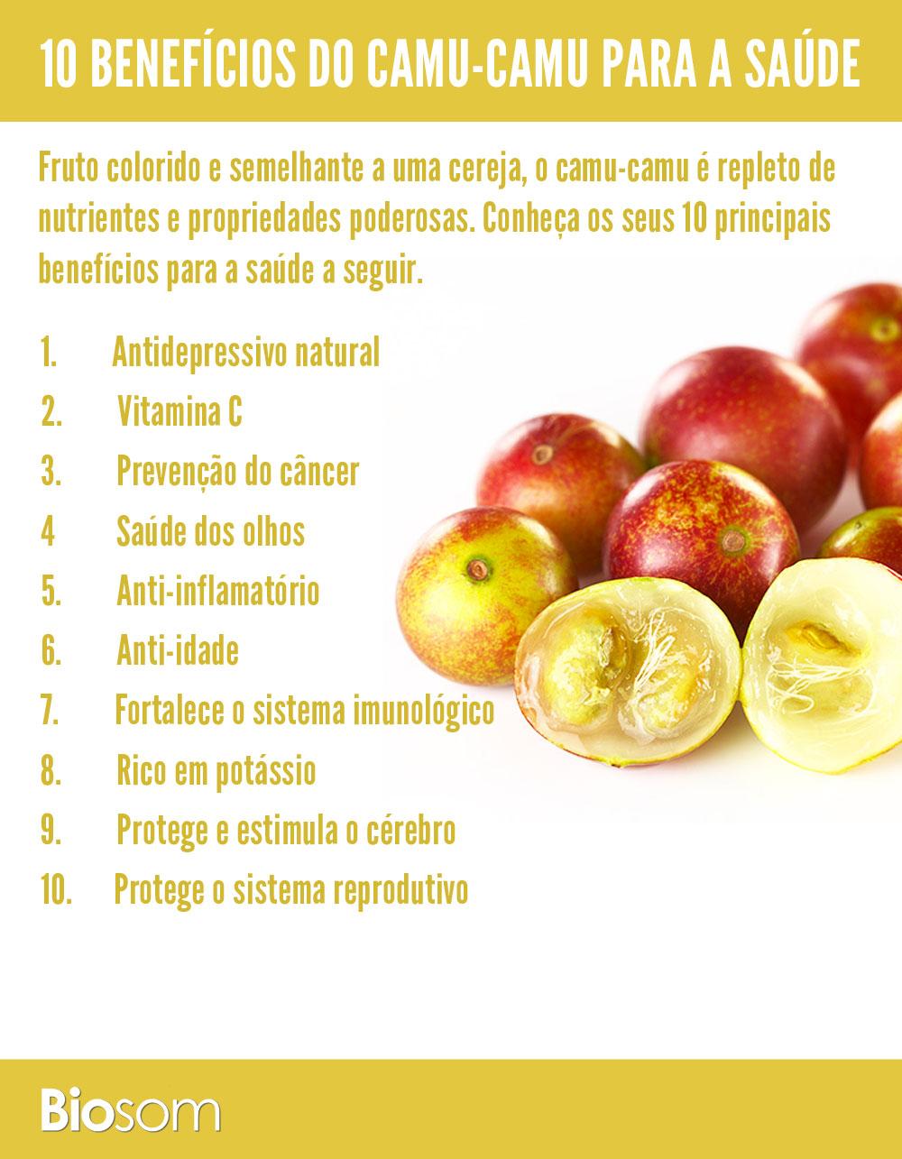 10 beneficios do Camu-Camu para a saúde
