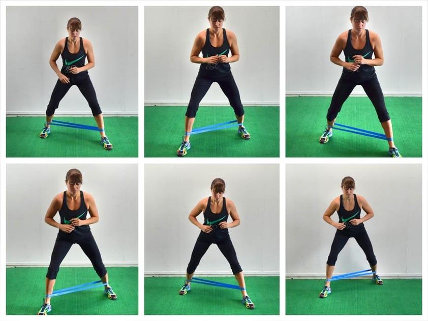10 Exercícios de Agachamento para Glúteos que Realmente Funcionam - Abdução de quadril com borracha