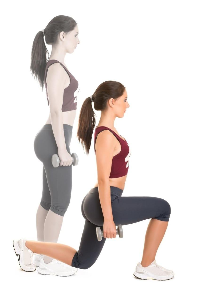 10 Exercícios de Agachamento para Glúteos que Realmente Funcionam - Avanço com barra e avanço com halteres